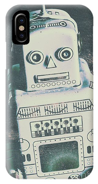 Electronic iPhone Case - Playback The Antique Robot by Jorgo Photography - Wall Art Gallery