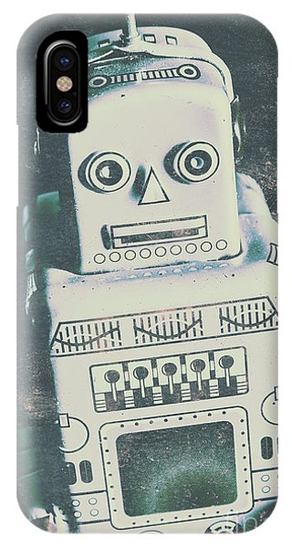 Robot iPhone Case - Playback The Antique Robot by Jorgo Photography - Wall Art Gallery
