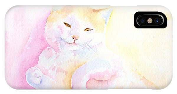 Playful Cat I IPhone Case