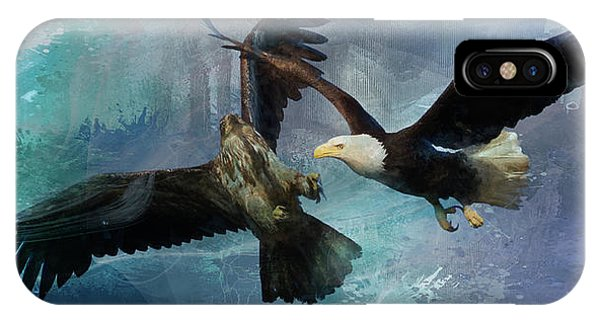 Playful Eagles IPhone Case