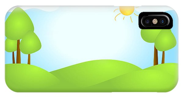 Playful Kid's Spring Backdrop IPhone Case