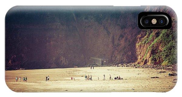 Playing Along Oceanside Oregon IPhone Case