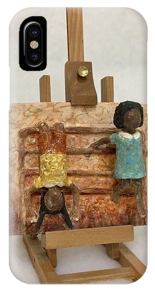 iPhone Case - Playing On The Gate by Ann Meany