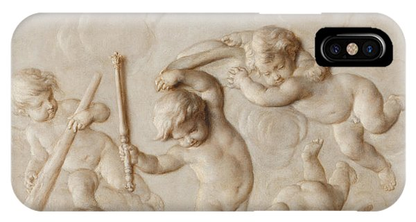 Playing Putti IPhone Case
