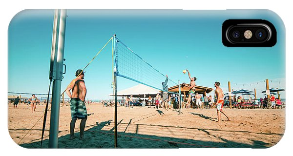 Tiki Bar iPhone Case - Playing Sideout At Bradford Beach by Vincent Buckley