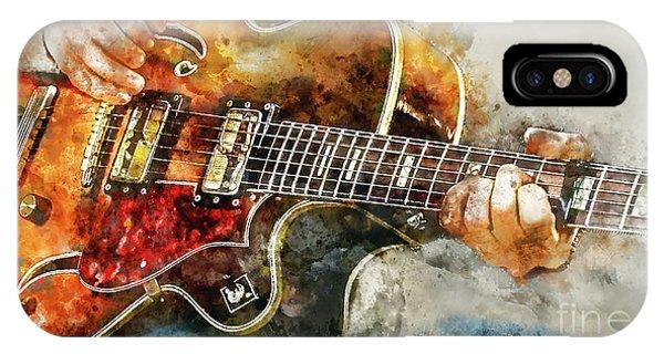 Guitar Legends iPhone Case - Playing The Blues by Jon Neidert