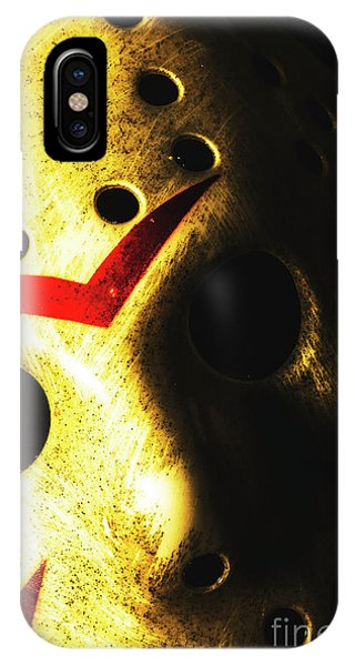 Hockey iPhone Case - Playing The Intimidator by Jorgo Photography - Wall Art Gallery