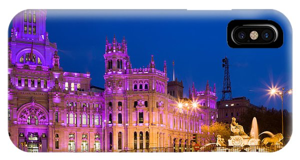 Plaza De Cibeles In Madrid IPhone Case