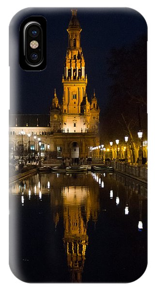 Plaza De Espana At Night - Seville 6 IPhone Case
