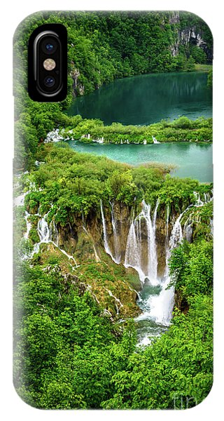Plitvice Lakes National Park - A Heavenly Crystal Clear Waterfall Vista, Croatia IPhone Case