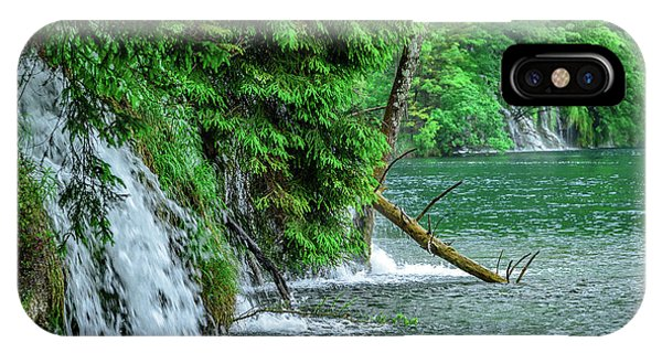Plitvice Lakes National Park, Croatia - The Intersection Of Upper And Lower Lakes IPhone Case