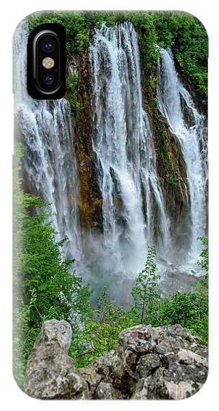 Plitvice Lakes Waterfall - A Balkan Wonder In Croatia IPhone Case