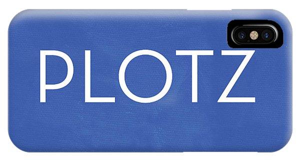 Plotz- Art By Linda Woods IPhone Case