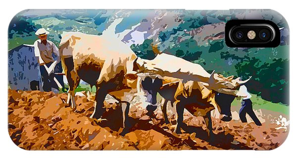 Plowing With Oxen IPhone Case