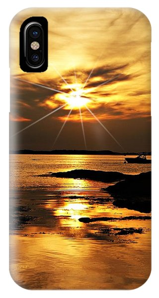Plum Cove Beach Sunset E IPhone Case