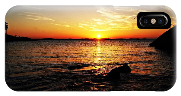 Plum Cove Beach Sunset G IPhone Case