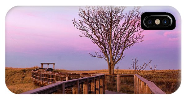 Plum Island Boardwalk With Tree IPhone Case