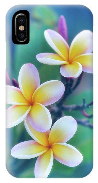 Plumerias In Pastel IPhone Case