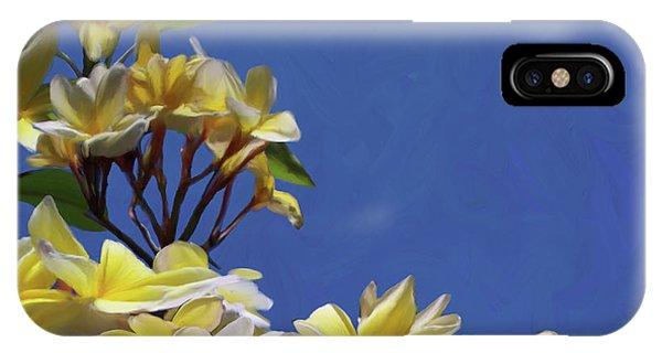 Plumeria_01 IPhone Case
