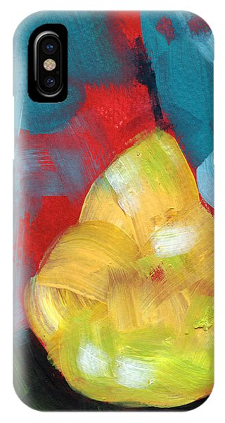Pear iPhone Case - Plump Pear- Art By Linda Woods by Linda Woods