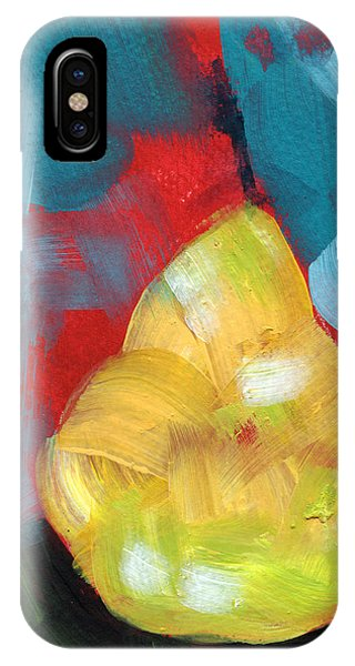 Red Fruit iPhone Case - Plump Pear- Art By Linda Woods by Linda Woods