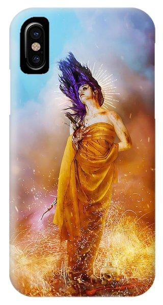 Fire iPhone Case - Plus Ultra by Mario Sanchez Nevado