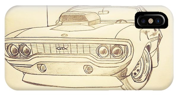 Plymouth Gtx American Muscle Car - Antique  IPhone Case