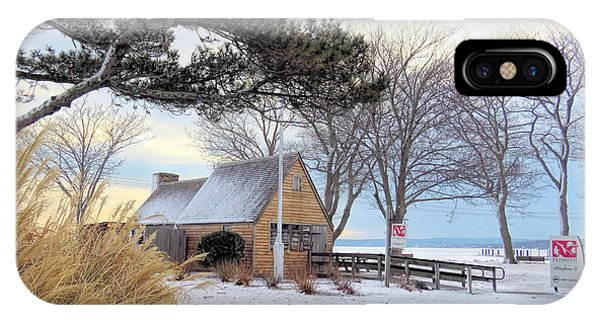 Plymouth Waterfront In Winter  IPhone Case