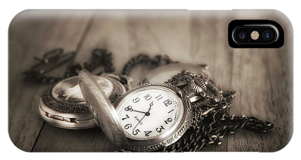 Chain iPhone Case - Pocket Watches Times Three by Tom Mc Nemar