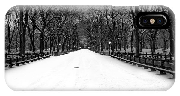 Poet's Walk In Snow IPhone Case