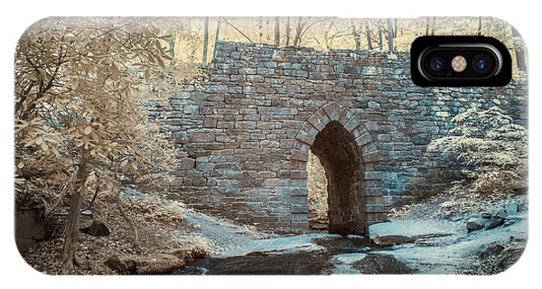 IPhone Case featuring the photograph Poinsett Bridge-ir-10 by Joye Ardyn Durham