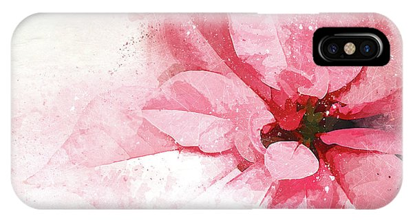 Christmas iPhone Case - Poinsettia Abstract by Terry Davis