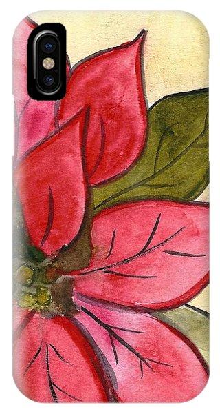 Poinsettia  IPhone Case