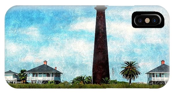 Point Bolivar Lighthouse 1872 IPhone Case