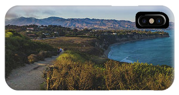 Point Dume Sunset Panorama IPhone Case