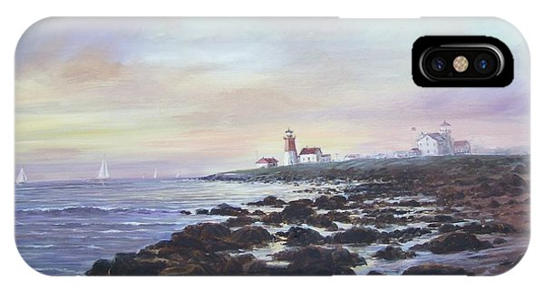Point Judith Light R I IPhone Case