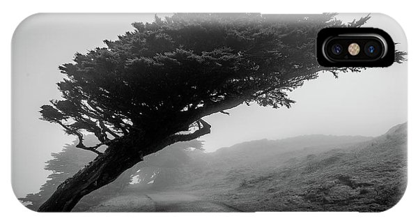 Point Reyes Fog Black And White IPhone Case