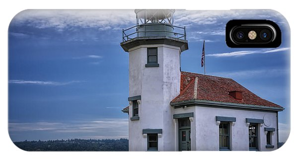 Navigation iPhone Case - Point Robinson Lighthouse by Joan Carroll