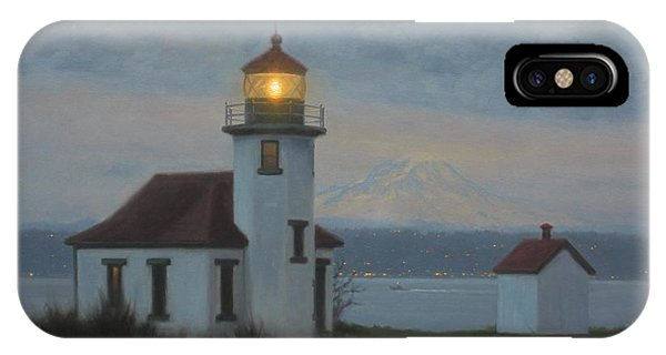 iPhone Case - Point Robinson Winter Evening by Ezra Suko