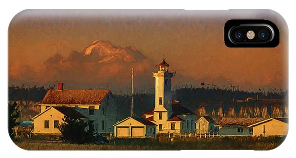 Port Townsend iPhone Case - Point Wilson Light 6 by Mike Penney