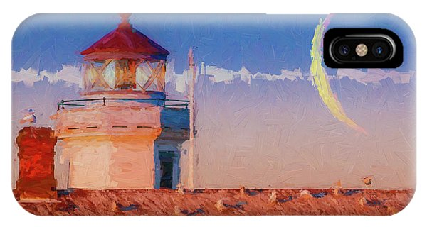 Port Townsend iPhone Case - Point Wilson Light 7 by Mike Penney