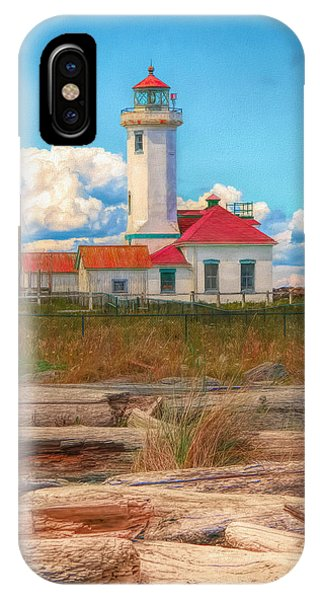 Port Townsend iPhone Case - Point Wilson Lighthouse And Driftwood by Dan Sproul