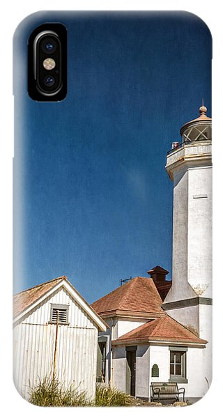 Port Townsend iPhone Case - Point Wilson Lighthouse by Joan Carroll