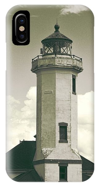 Port Townsend iPhone Case - Point Wilson Lighthouse Sepia by Dan Sproul