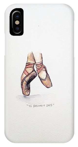 Ballerina iPhone Case - Pointe On Friday by Venie Tee