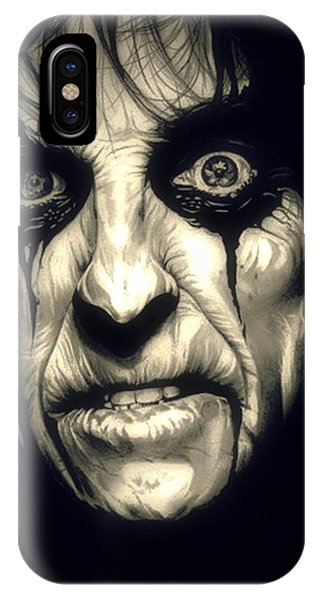 Alice Cooper iPhone Case - Poison Alice Cooper by Fred Larucci