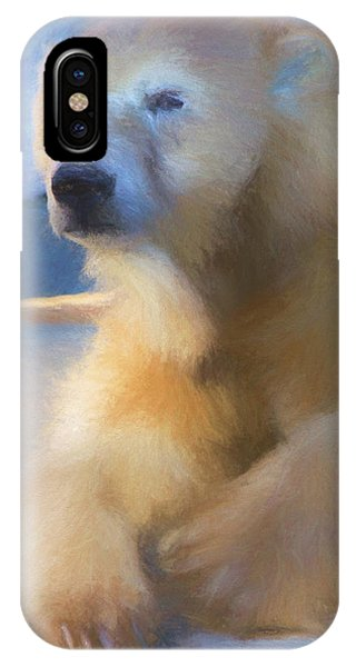Polar Bear In Chalk IPhone Case