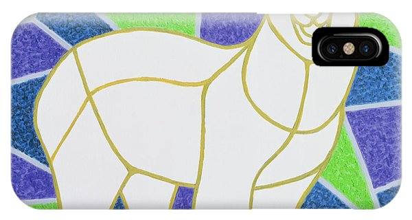 Polar Bear On Stained Glass IPhone Case
