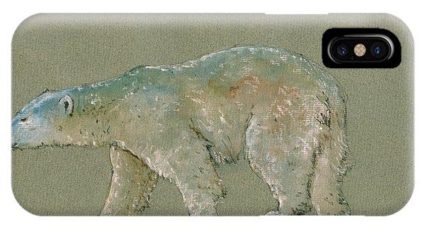 Bear iPhone Case - Polar Bear Original Watercolor Painting Art by Juan  Bosco