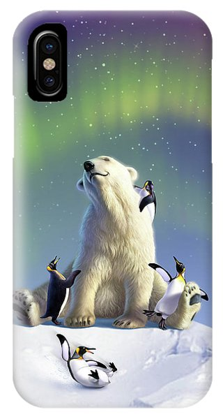 Penguin iPhone Case - Polar Opposites by Jerry LoFaro